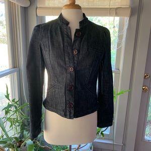 Anthropologie fitted denim jacket or blazer